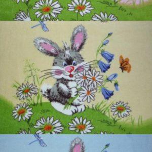 "alt= ""Полотенце заяц с ромашками"""